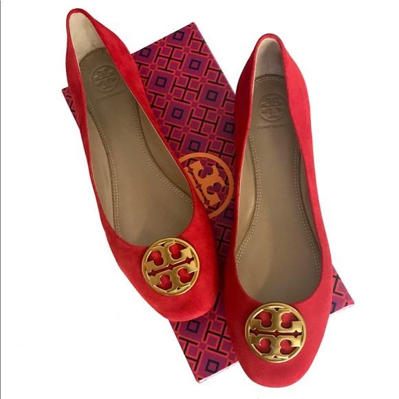 99a2de91e Tory Burch Chelsea Ballet Liberty Red Size 7